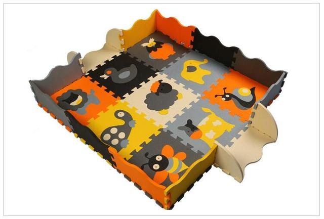 25 pcs a set baby jigsaw puzzle mats with sides nontoxic foam floor mat