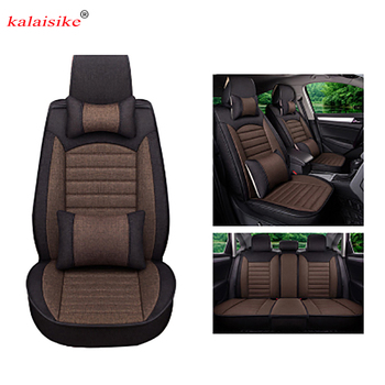 Kalaisike Flax Universal Car Seat covers for SEAT all model Toledo LEON Ateca exeo IBL arona car styling auto accessories