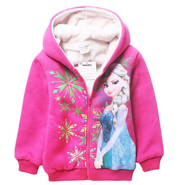 Meninas Casaco de inverno Crianças Grosso Quente Com Capuz Crianças Manteaux Roupas Outerwear Bebê Princesa Rainha da Neve Jaqueta Blusão Enfant