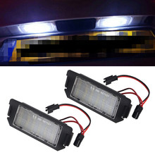2 Stuks Led Kentekenverlichting Voor Hyundai I20 Veloster Fs Xg 30 Terracan Hp Coupe Gk 12V Wit geen Fout Voor Kia Picanto Rio Soul(China)