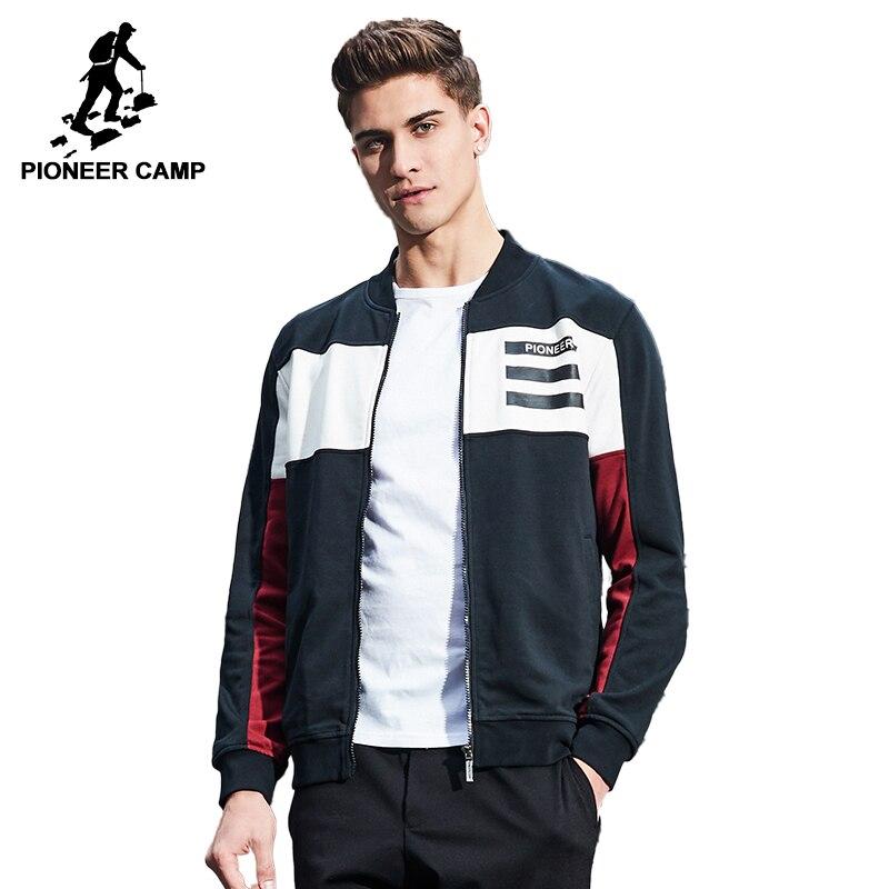 Пионерский лагерь Новое поступление весенняя куртка мужская брендовая одежда модные мужские пальто наивысшего качества в стиле пэчворк в ...