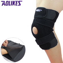 AOLIKES 1PCS Four Spring Support Breathable Sports Knee Pads Brace Support Protect Knee Protector Kneepad ginocchiere rodillera