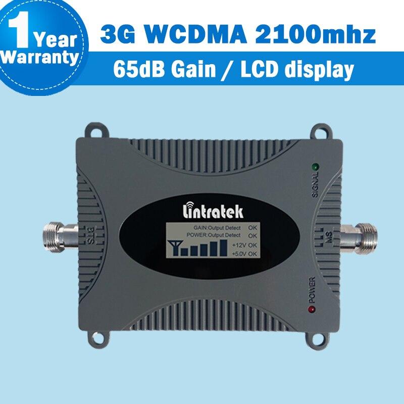 Amplificateur de Signal de téléphone portable Lintratek UMTS 2100 mhz 3G WCDMA 2100 (bande 1) amplificateur de répéteur de Signal réseau GSM avec affichage 42
