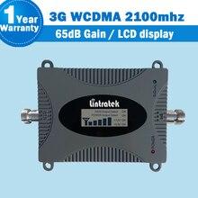 Lintratek WCDMA UMTS 2100mhz Mobile Phone Signal Booster 3g 2100 (Banda 1) rede Repetidor GSM Repetidor de Sinal Amplificador com display amplificador de sinal de telefone 3g wcdma 2100mhz booster para casa kw16l wcdma