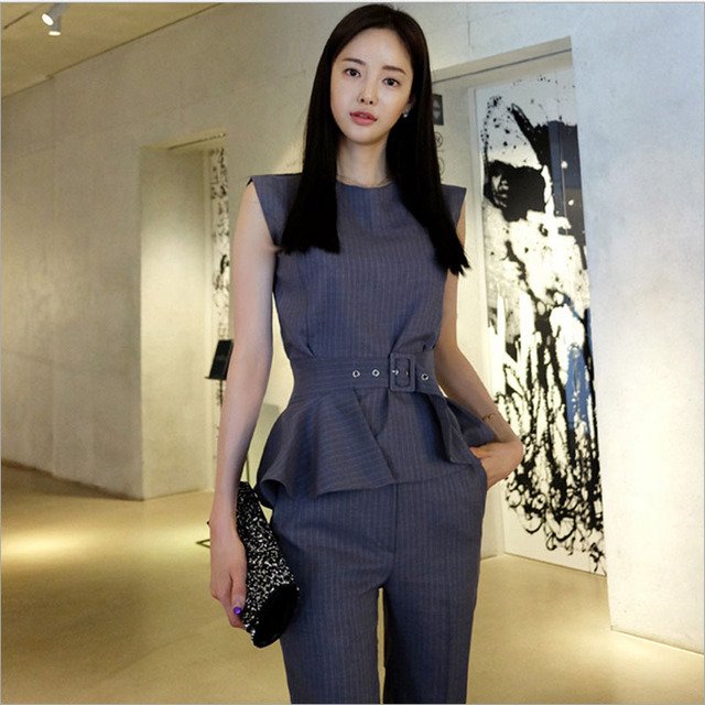 2 piece set women pants and shirts 2017 Fashion knitting blouse pants suits set ladies Sexy Evening dress suit twinset young man