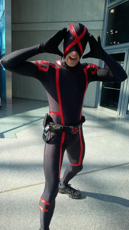 2015 new custom x men cyclops costume spandex halloween cosplay
