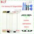 Originais s7 borda do vidro da frente para samsung galaxy s7 edge g9350 touch screen painel de digitador de vidro exterior com adesivo