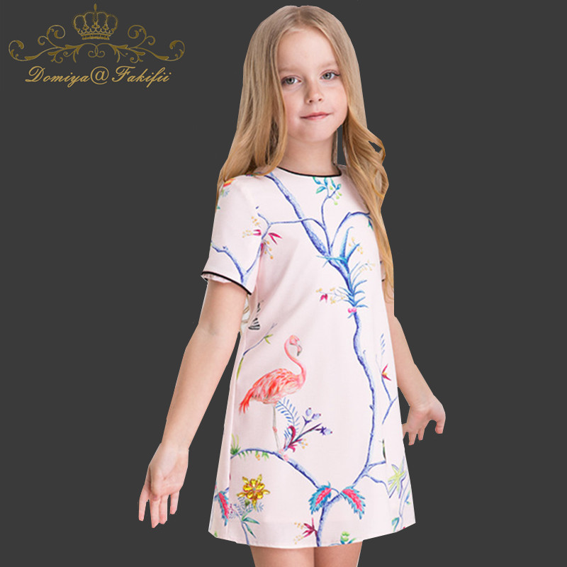 2018 Summer Brand Girl Dress with Rhinestone Robe Enfant Kid Clothes Costumes Princess Robe Fille Children Flower Dress For Girl finn flare носки женские