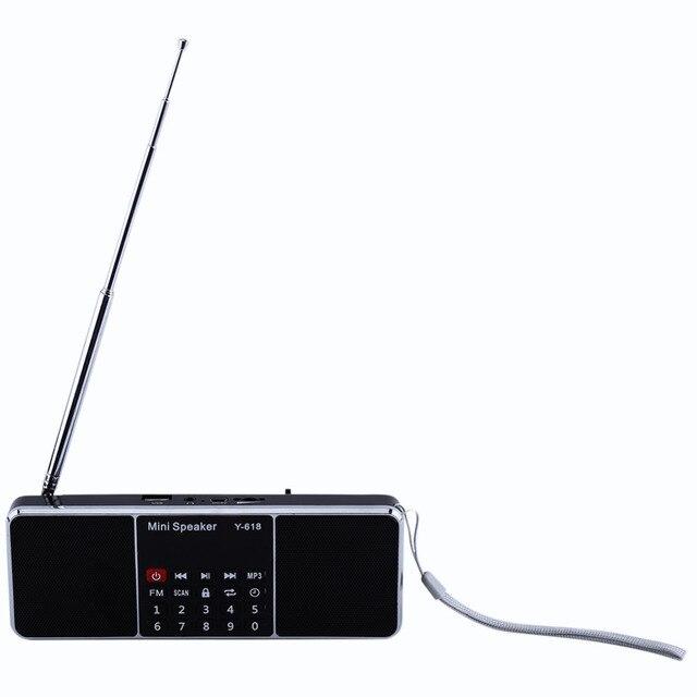 Цифровой Портативный Радиоприемник FM Стерео MP3 Музыка Радио Мини Аудио Радио Для Карты ПАМЯТИ/USB Flash Drive ЖК-ДИСПЛЕЙ дисплей
