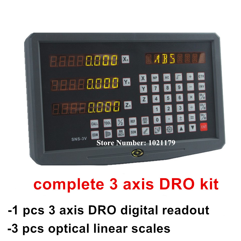 High Precision complete set milling/ lathe/ drill machine DRO digital readout and 3 pcs linear scale linear encoder line цена