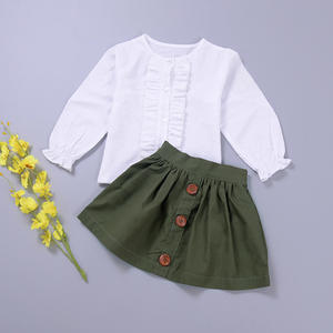 91d96dc09f0 Sunny ju Girls Suits Clothes Long Sleeve Skirt Outfits