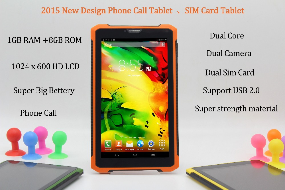 7 Inch Original 3G Phone Call Android Dual Core font b Tablet b font pc Android
