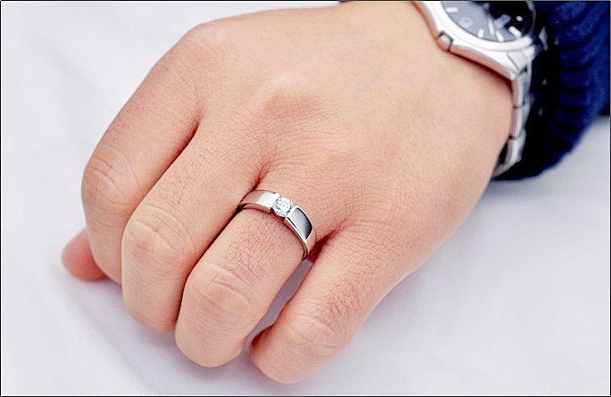 jewellery silver plated cz diamond couple ring for menwomen wedding accessories lovers gift bague zircon pair ring ulove j036 in rings from jewelry - Wedding Ring For Men