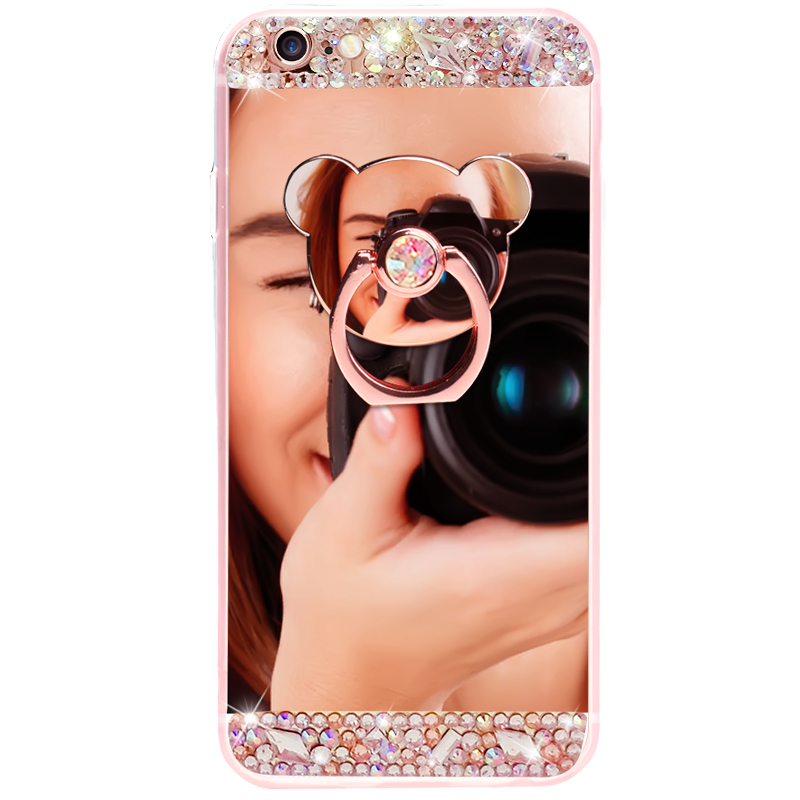 Crystal Phone Case For iPhone 11 Pro Max Diamond Luxury Cover For iPhone 7 8 6 Crystal Phone Case For iPhone 11 Pro Max Diamond Luxury Cover For iPhone 7 8 6 6s Plus Rhinestone Mirror For iPhone XS XR Xs Max