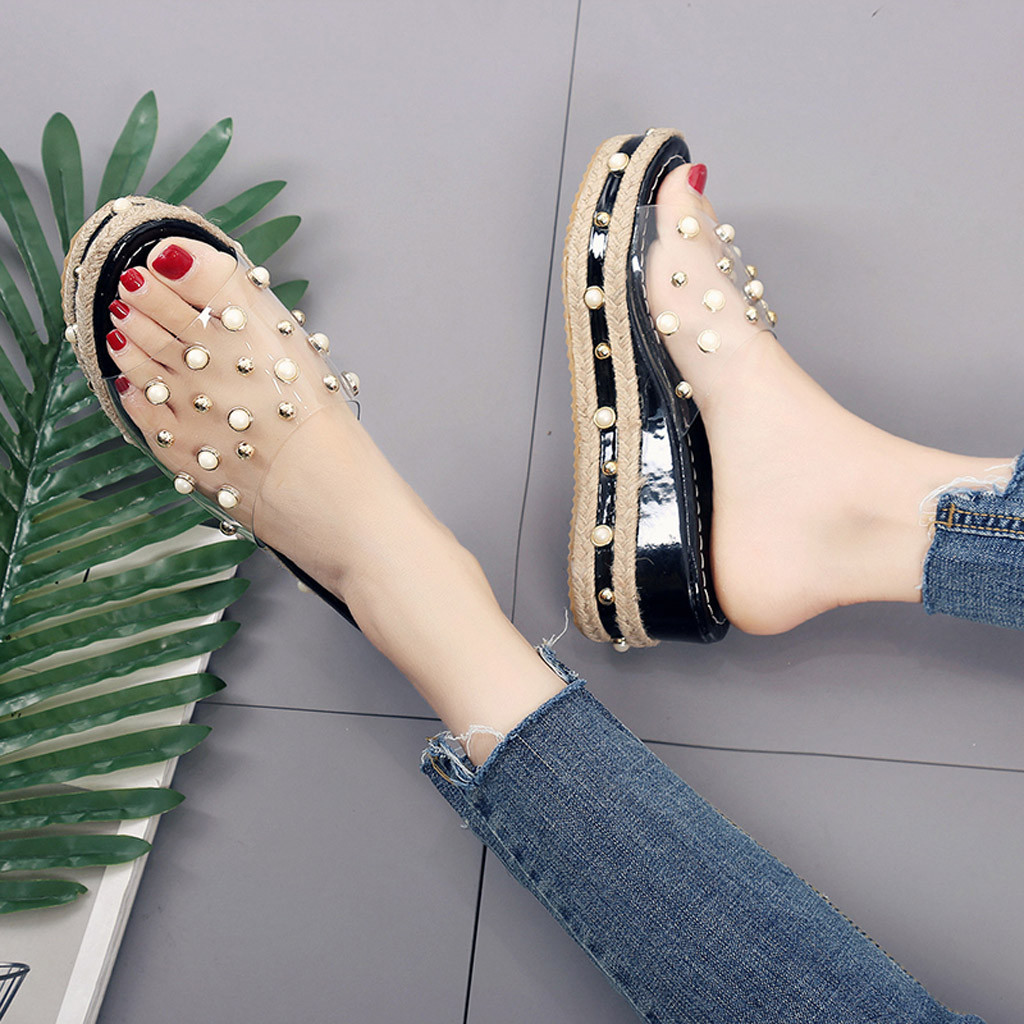 Fashion Jelly Sandals Summer Candy Slippers Woman Shoes Flats Ladies Womens Zapatos Mujer Slip On Pearl Fashion Jelly Sandals Summer Candy Slippers Woman Shoes Flats Ladies Womens Zapatos Mujer Slip On Pearl Beach Wedges Jelly Shoe