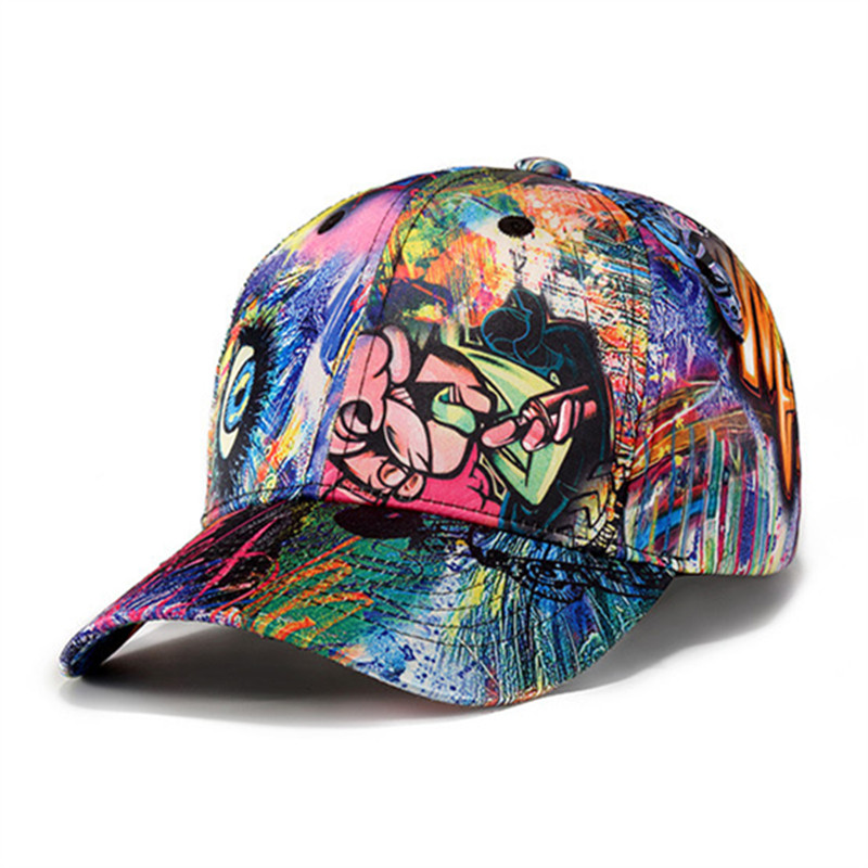 1ad0666e61e New Design 3D Printing Baseball Cap Brand Women colorful cap girls printed  hats adjustable colorful Hip Hop Casual Snapback Cap