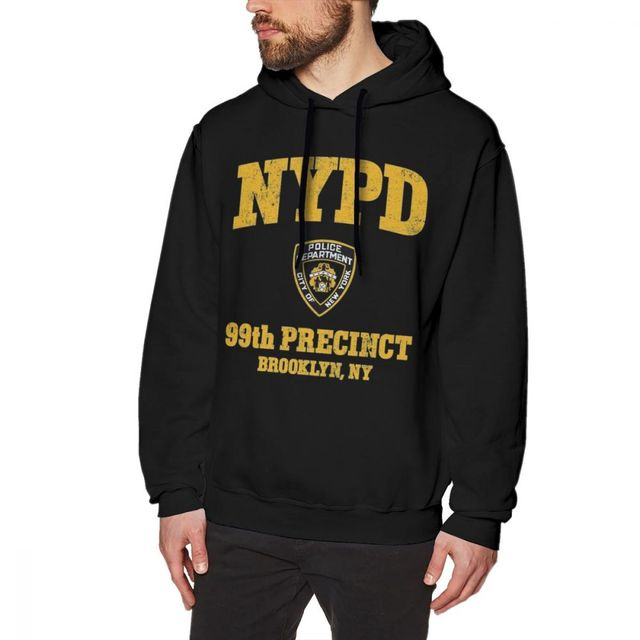 ad038f6a69 Brooklyn Nine Nine Hoodie 99th Precinct Brooklyn NY Hoodies Over Size Long  Length Pullover Hoodie Purple Autumn Cotton Hoodies