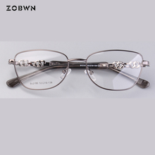 Bán kính Thời Trang nữ đá hướng kim cương Thương Hiệu thiết kế mắt kính nữ gọng Cận Thị Kính Prescrioption Quang Học