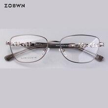 Heißer verkauf Mode gläser frauen stein richtung diamanten Marke designer brille frauen rahmen Myopie Gläser Prescrioption Optische
