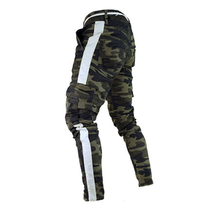 Image 1 - well Military Work Cargo Camo Combat Plus Size Pant Side Stripe Hip Pop Style Streetwear Men Trousers Casual Camouflage streetw