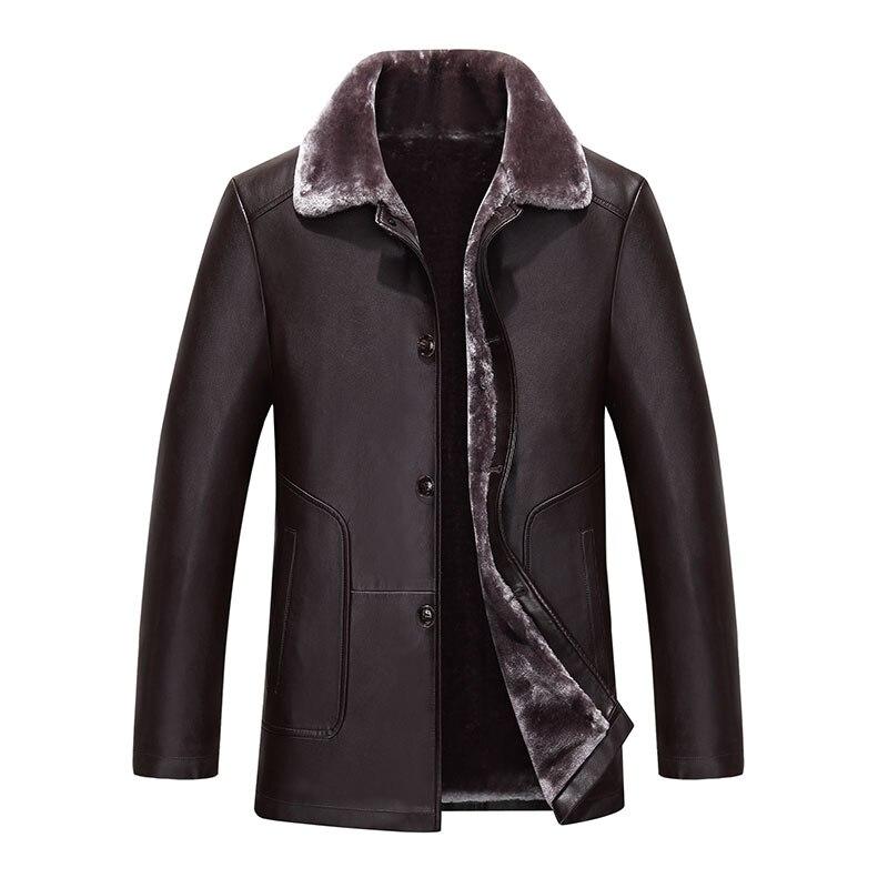 KUYOMENS New Arrival 2016 Autumn and Winter Men's Faux Leather Jacket Men Faux Fur Jackets Fashion Style Coat Warm Coats