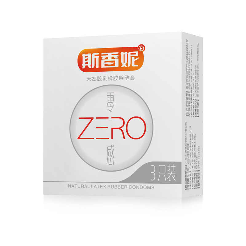 3 Pcs/box Zero Sense Normal Translucent Condoms Natural Latex Smooth Lubrication Penis Sleeve For Men Safe Contraception Tool