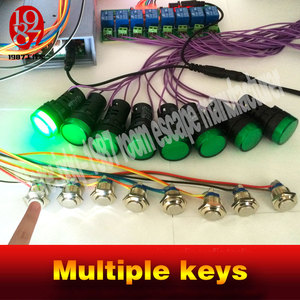 Image 2 - 2016 new Multiple keys real life room escape prop tools press button in sequence turn on the light and run awayfrom chamber room