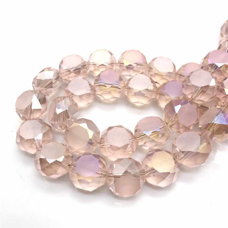 Atacado 50 PCS 8x14 milímetros multi facetada oval Áustria contas de cristal, feitos à mão DIY fazer jóias #07