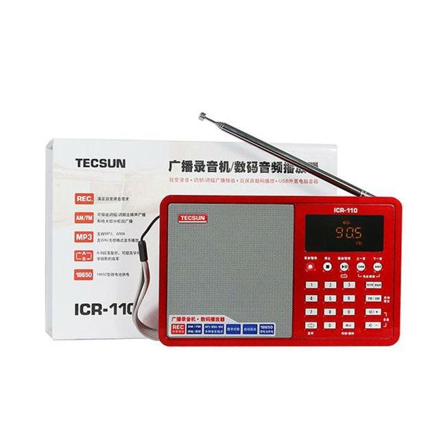 Радиоприемник TECSUN ICR-110, FM/AM, MP3, TF-Card