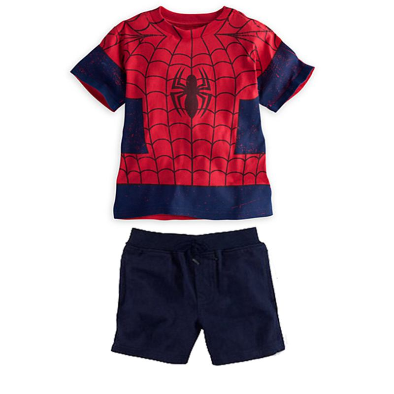 Cool Spiderman Summer Boys Sets T Shirt Kids Pants Baby Boy Suit Conjunto Roupas Infantis Menino Kids Clothes Children Clothing sun moon kids boys t shirt summer