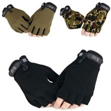 Men Camouflage Tactical Gloves Outdoor Sport Cycling Half Finger Anti-Slip Shock