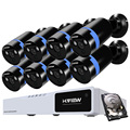 H.View CCTV System 1080P Security Camera System 1TB HDD 8 CH AHD CCTV DVR 8 1080P Array IR LED CCTV Camera Easy Remote View
