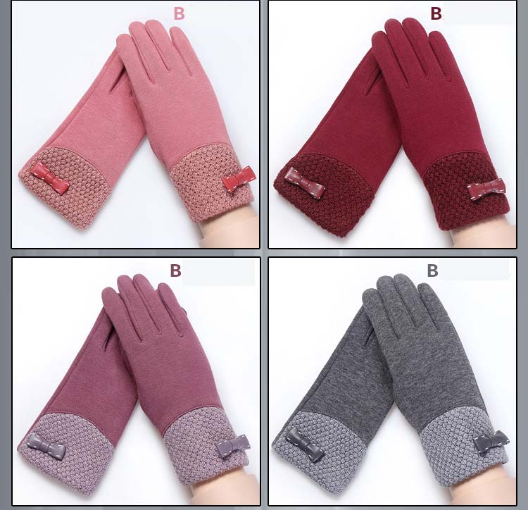 GLV804 Winter ski font b gloves b font with velvet non slip thickening thermal cycling font