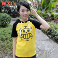 Anime Surgeon Trafalgar Law T Shirt Japanese Cartoon One Piece Cosplay Shirts Summer Unisex Short Sleeve Patchwork Tops Tee WXC