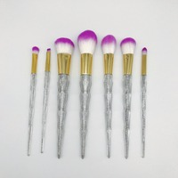 7pcs Sets New Hot Makeup Makeup Brush 7 Crystal Handle Diamonds Colorful Makeup Brush New Unicorn