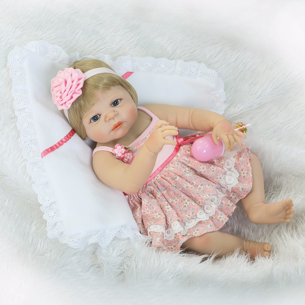 New arrival NPK full body  silicoen bebe reborn girl dolls soft silicone vinyl real gentle touch  bebe new born real reborn baby 23 russian silicone reborn baby girl full body vinyl dolls touch real baby dolls lifelike real hair new 2017 kids playmates