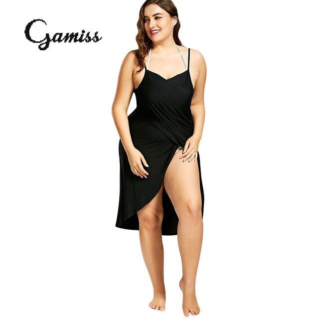 Gamiss 2018 New Plus Size Beach Cover Up Wrap Dress Bikini Swimsuit