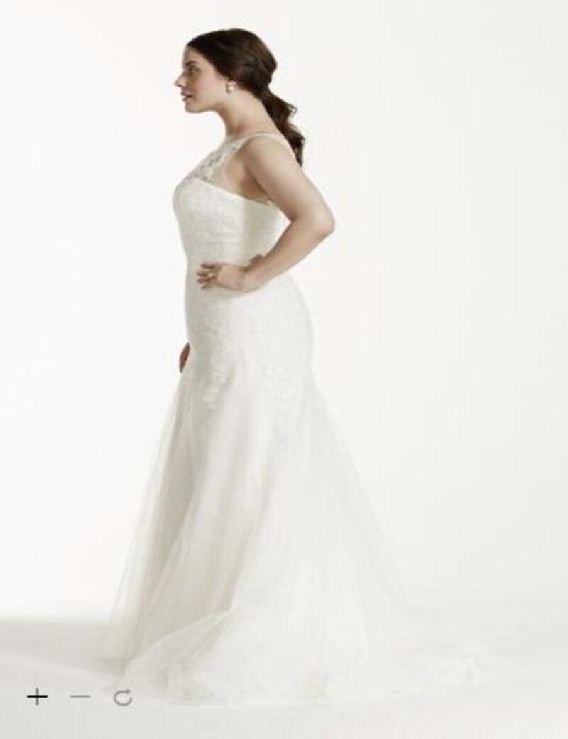 Custom Made 2016 New Free Shipping Illusion Neck Deep V Back Wedding Dress  David s bridal Style 9MK3718 Wedding Dresses-in Wedding Dresses from  Weddings ... 781b7e7c6c71