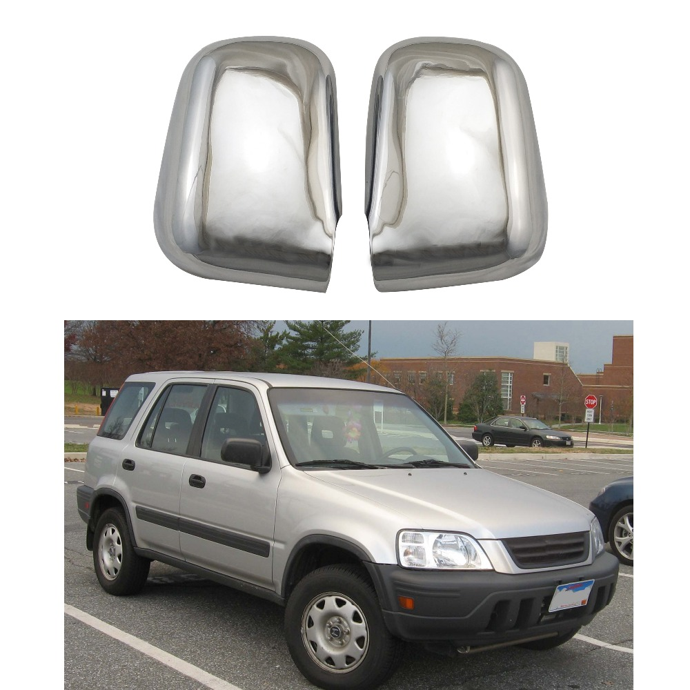 ABS Chrome door Rearview door mirror covers Automobile exterior fitting For <font><b>Honda</b></font> RD1 RD3 <font><b>CR</b></font>-<font><b>V</b></font> 1995 1996 <font><b>1997</b></font> 1998 1999 <font><b>2001</b></font> image