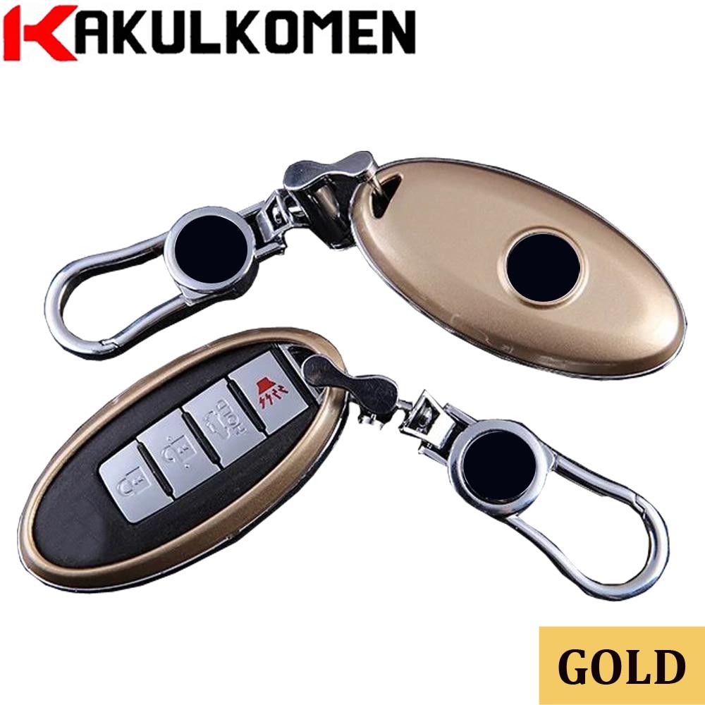 Gold fashion New Remote car key shell case for Nissan Qashqai J10 J11 X-Trail t31 t32 Rogue Tiida Pathfinder Murano Note Juke