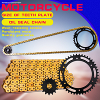 1 Set Front and Rear Sprocket Chain & chain For Yamaha TTR250 Motorcycle Accessories sprocket chain
