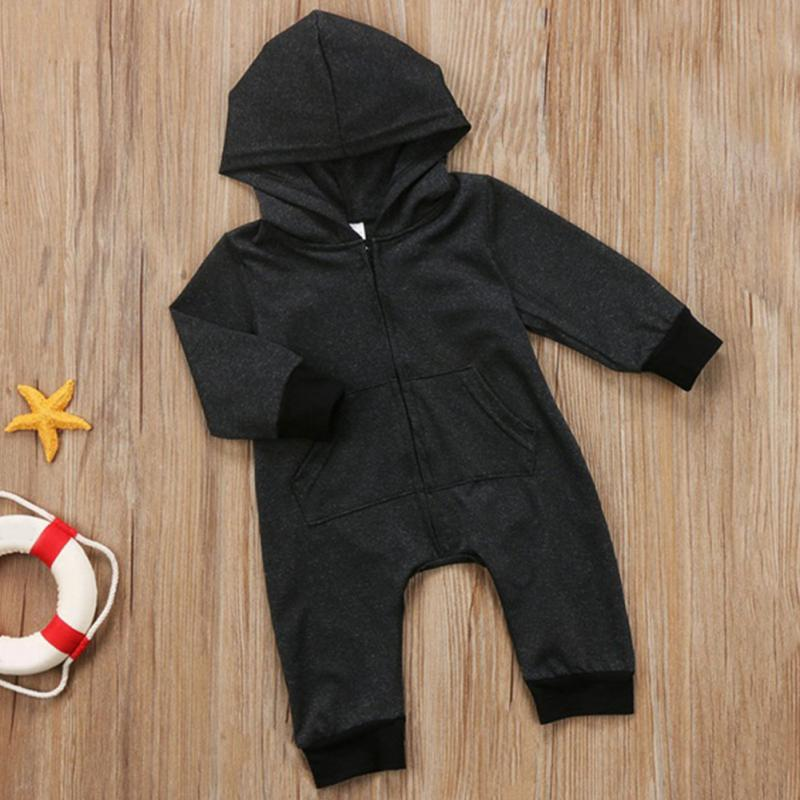 Fashion Children Boy Clothes Costume Casual Infant newborn baby Romper Girl cotton zipper hooded jumpsuit