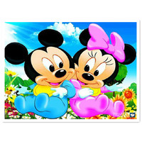 Mickey Mouse Diamond Embroidery 3D Products Crafts Diamond Mosaic Cartoon For Home Decor Picture Of Rhinestones