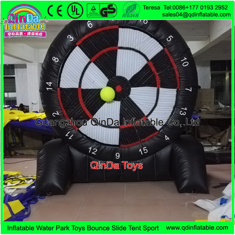 3 Free Soccer Ball With Inflatable Foot Darts Dart Board Game Inflatable Velcro Soccer Dart