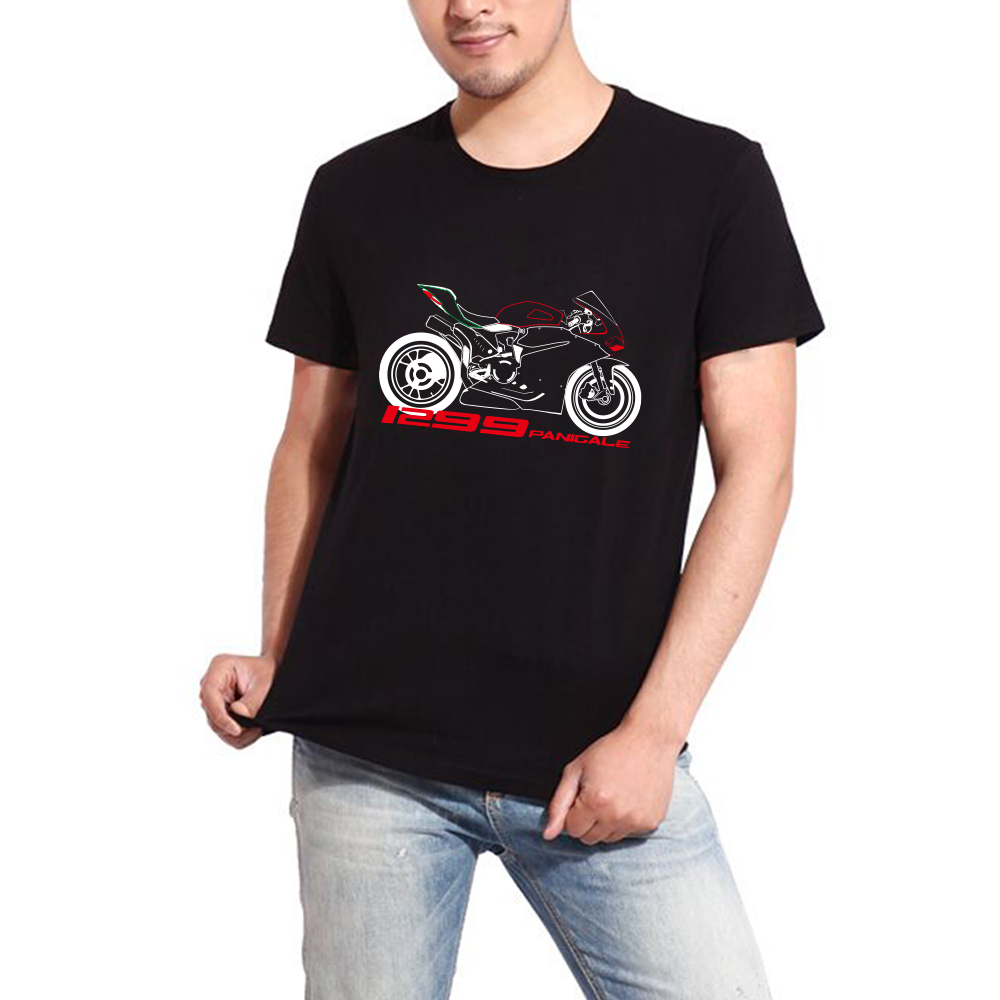 KODASKIN Motorcycle Style 100% Cotton for Ducati 1299 Panigale Casual Short Sleeve O Neck T Shirt|Shirts & Tops| |  - title=