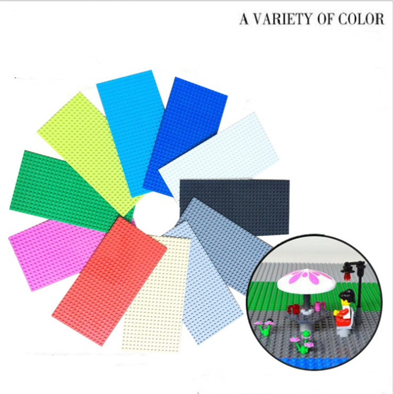 1Pcs 11 Colors 16*32 Dots Base Plate For Bricks Baseplate Board DIY Building Blocks Toys For Children Compatible with legoing new big size 40 40cm blocks diy baseplate 50 50 dots diy small bricks building blocks base plate green grey blue