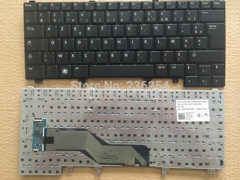 FR Frace AZERTY layout keyboard for Dell Latitude E6320 E6420 E5420 E6220 E6430 Black Laptop