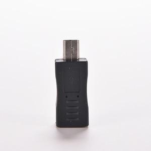 Image 2 - 1PC Schwarz Micro/Mini 4 Typ Gerade/L Form USB Weiblichen zu Mini/Micro USB Männlich adapter Ladegerät Stecker Konverter Adapter