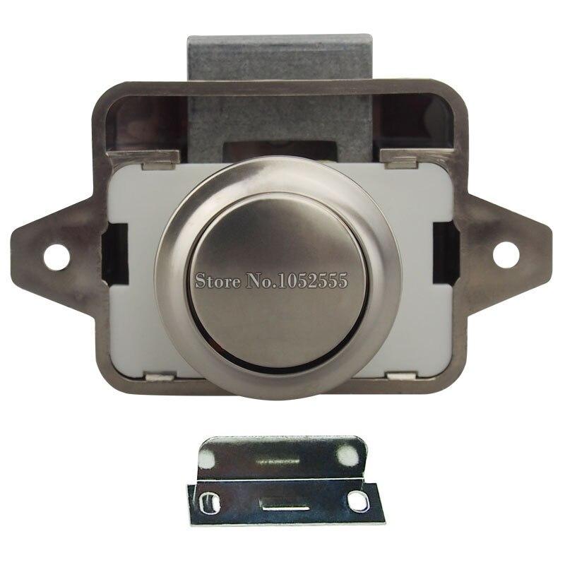 8PCS Cupboard Push Lock Button Catch Lock Camper Caravan Motorhome RV  Cabinet Drawer Knobs Push Latch