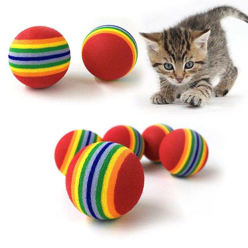 Товары для кошек 3,5 см кошачий шар игрушки для щенка кошка интерактивная игра жевательная игрушка погремушка царапина EVA мяч для домашних жи...
